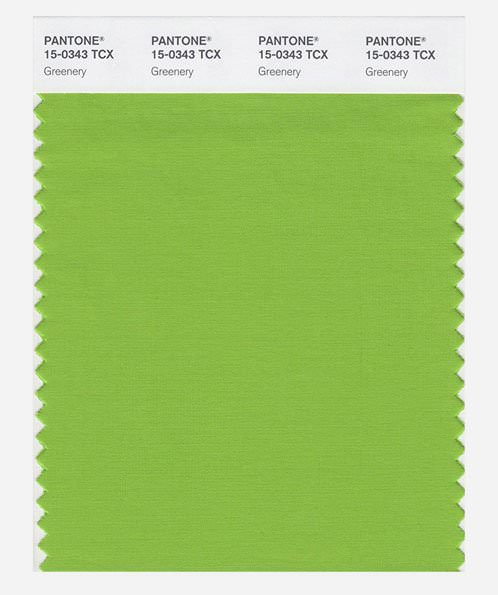 PANTONE SMART color swatch card Greenery
