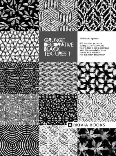 Grunge Decorative Black Textures 1