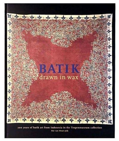Batik drawn in wax